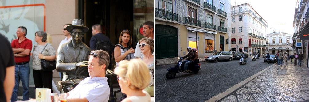 Fernando Pessoa é uma das figuras mais emblemáticas do bairro Foto: Priscila Roque/ Cultuga