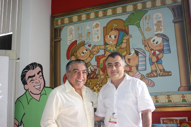 Maurício de Sousa e José Santos