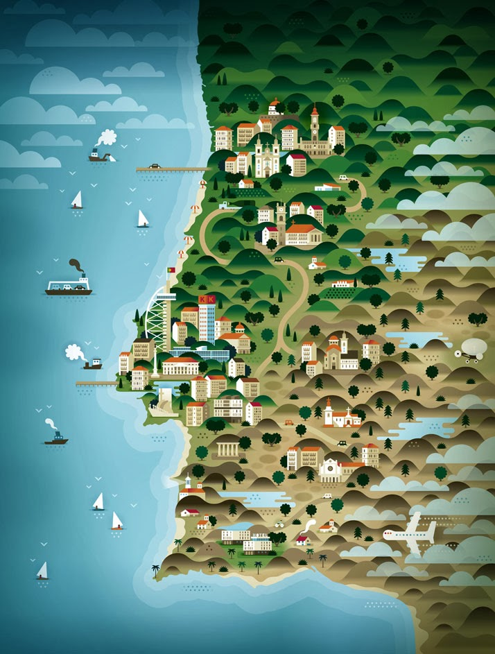 portugal-Map-Illustrations-KHUAN-KTRON