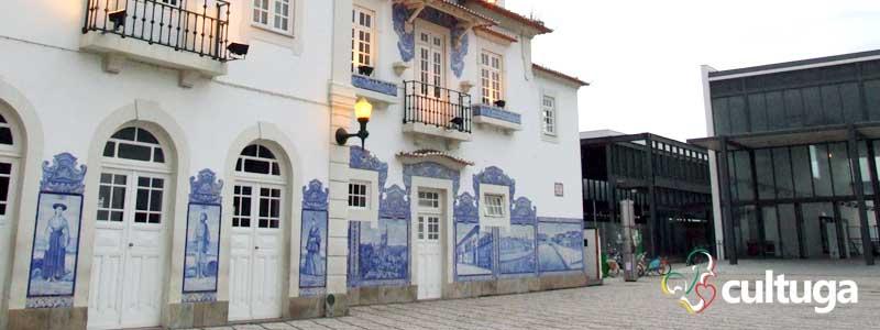 Estação de trem de Aveiro, em Portugal