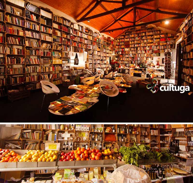 O que fazer em Óbidos: livraria do Mercado Biológico