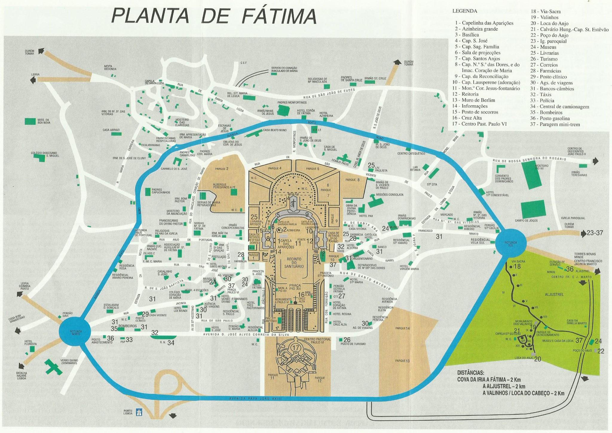 mapa de portugal lisboa fatima O que fazer em Fátima: como incluir o santuário no roteiro   Cultuga mapa de portugal lisboa fatima