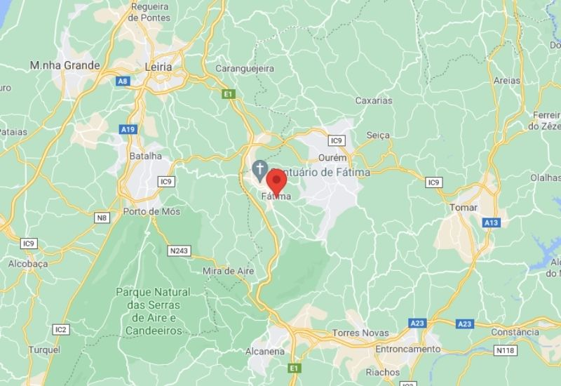 Mapa de Fátima Portugal