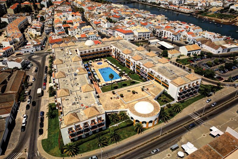Vista aérea do Vila Galé Tavira. Foto: Divulgação
