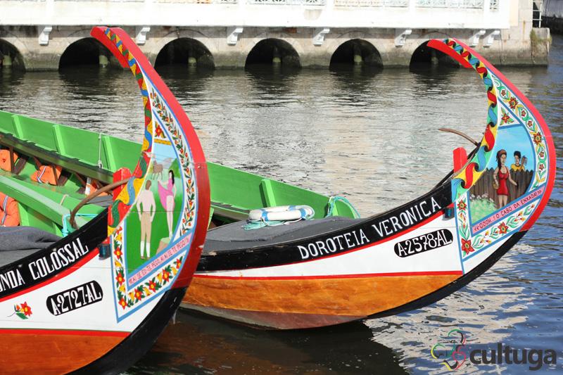 Barcos moliceiros de Aveiro. Foto: Priscila Roque/ Cultuga