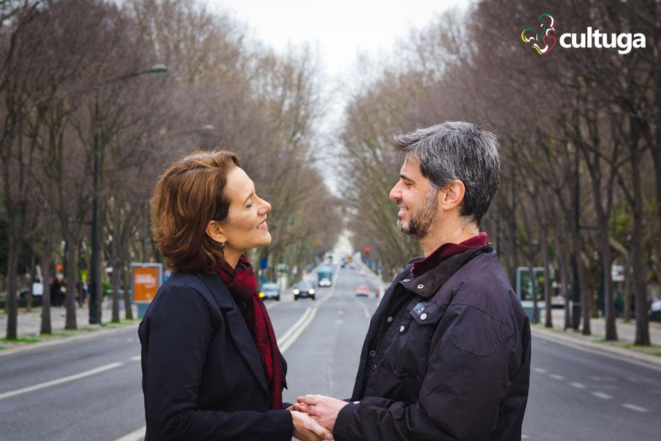 Ensaio fotográfico em Lisboa de casal do Cultuga