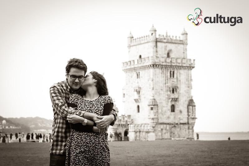 Jardim da Torre de Belém como cenário da nossa sessão fotográfica de casal