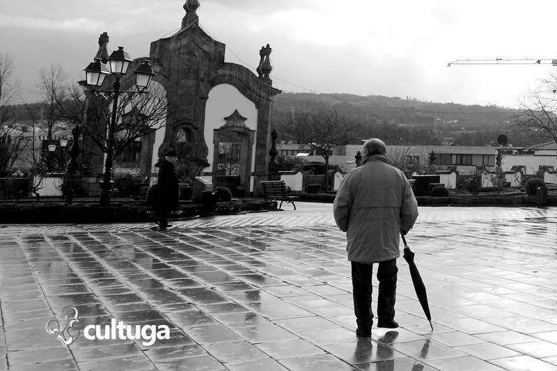 Inverno na cidade de Barcelos, no norte português