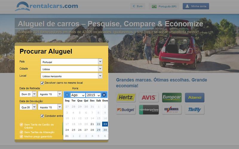 aluguel de carro em Portugal