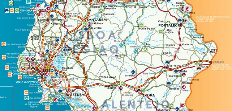 mapa estradas de portugal continental Mapa de Portugal: entenda como são divididas as regiões   Cultuga mapa estradas de portugal continental
