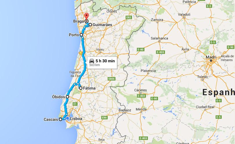 mapa lisboa porto De Lisboa ao Porto: cidades baratas para visitar   Cultuga mapa lisboa porto