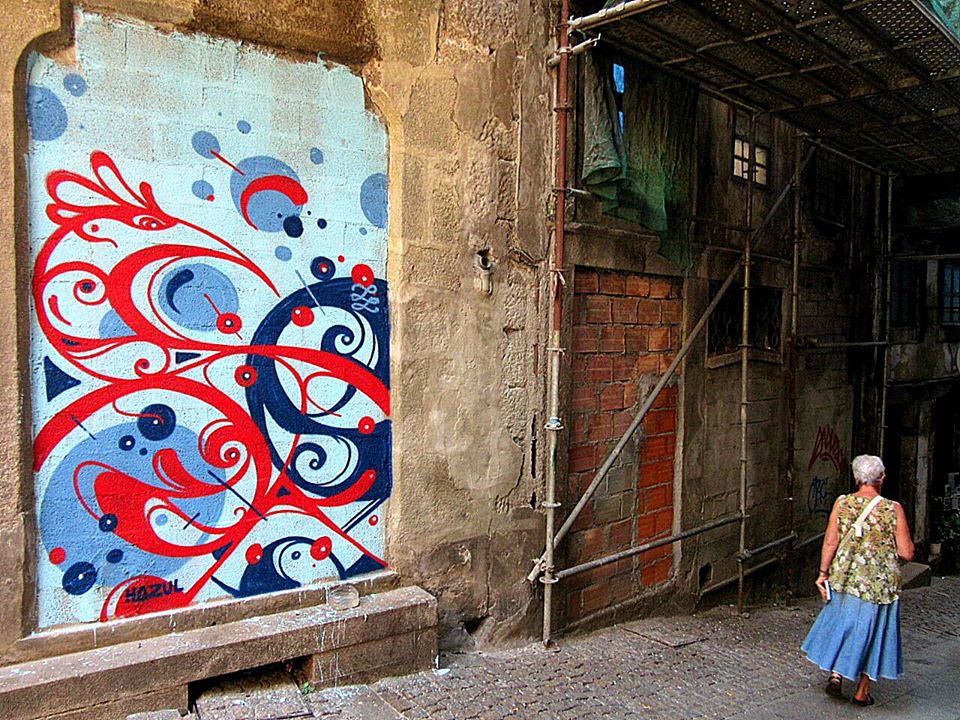 Obra do artista Hazul, no Porto (foto: Facebook EuSouHazul)