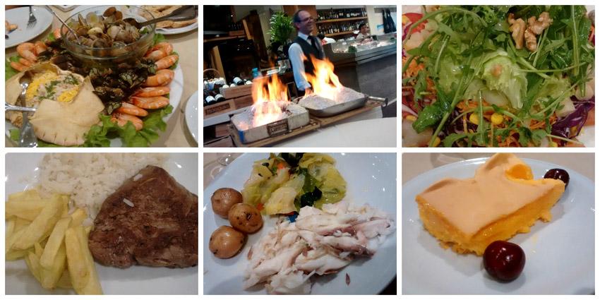 Muito cuidado e dedicação ao preparo da nossa comida no restaurante Os Lusíadas