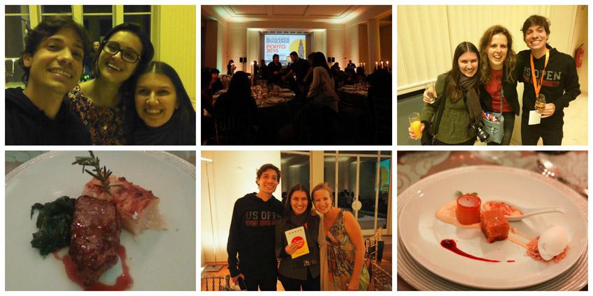 Com os novos amigos e uma comida excelente no jantar oferecido pela Fundação de Serralves