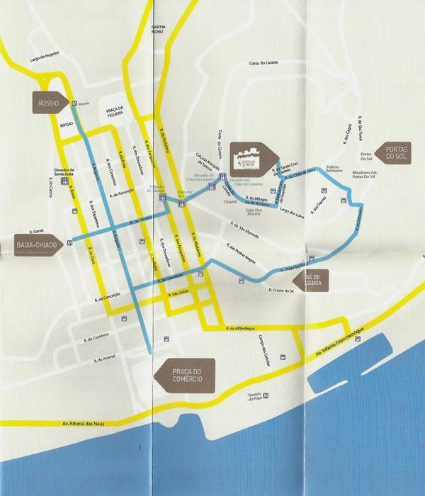 Como chegar ao Castelo de São Jorge - Mapa