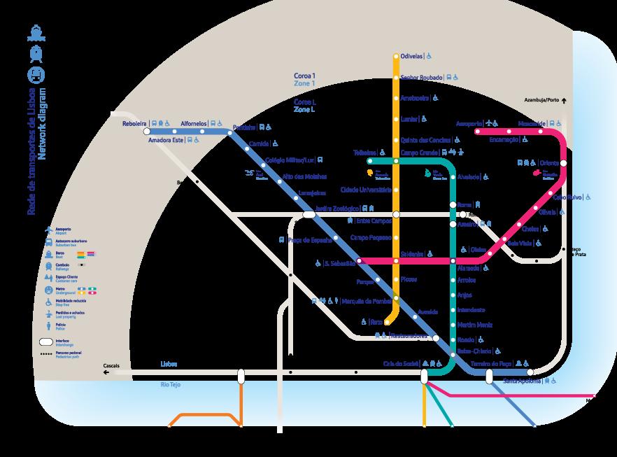 metro lisboa mapa