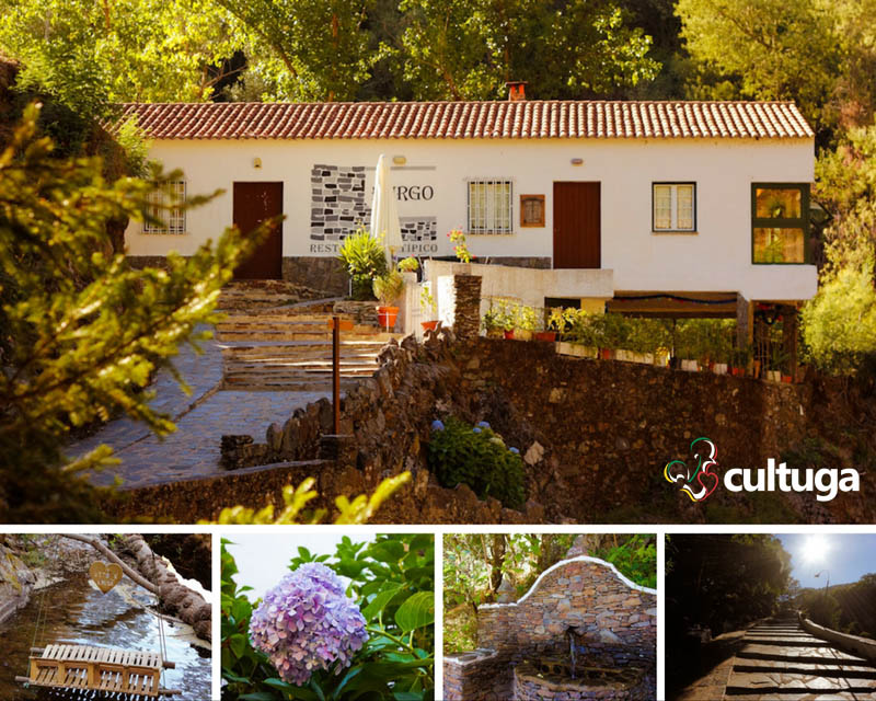 Restaurante O Burgo e alguns detalhes dos arredores, com a piscina fluvial