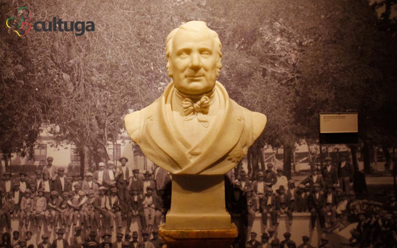 Busto do fundador da Vista Alegre