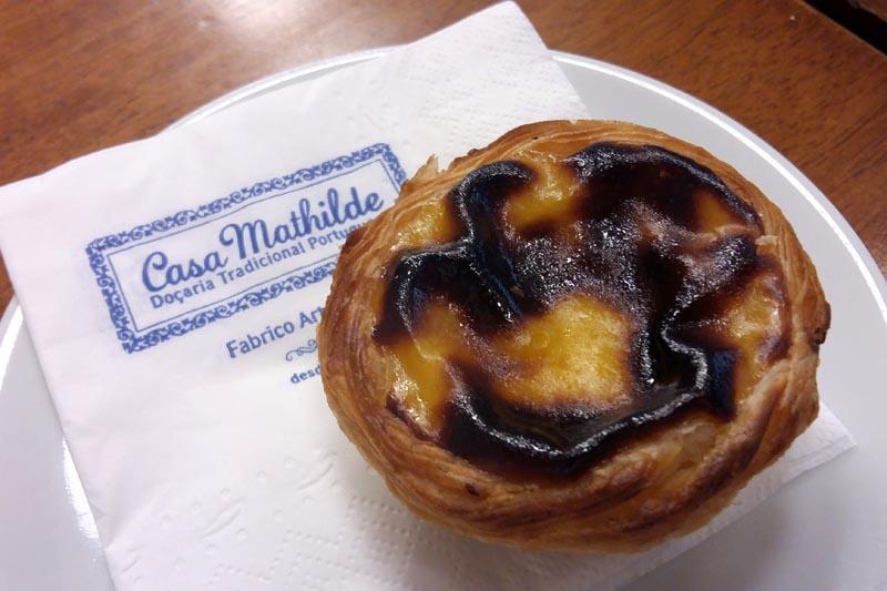 Pastel de nata em São Paulo - Casa Mathilde