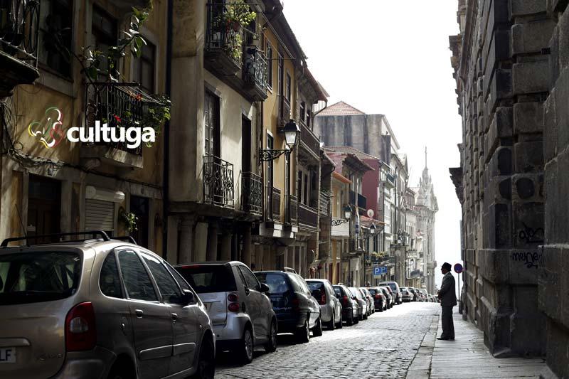 Rua de acesso ao Miradouro da Vitória, no Porto, em Portugal