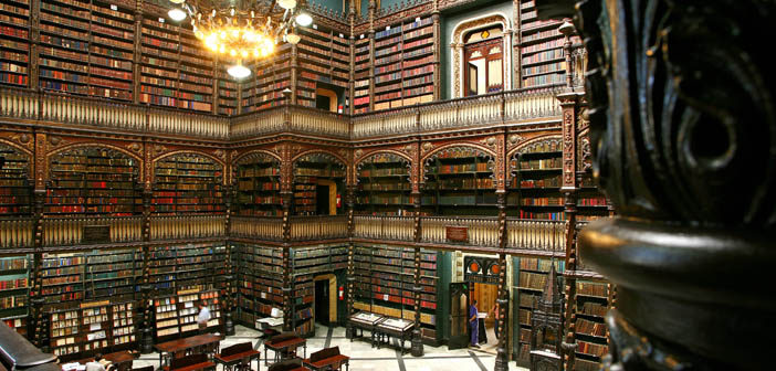 Uma biblioteca portuguesa incrível no Rio de Janeiro
