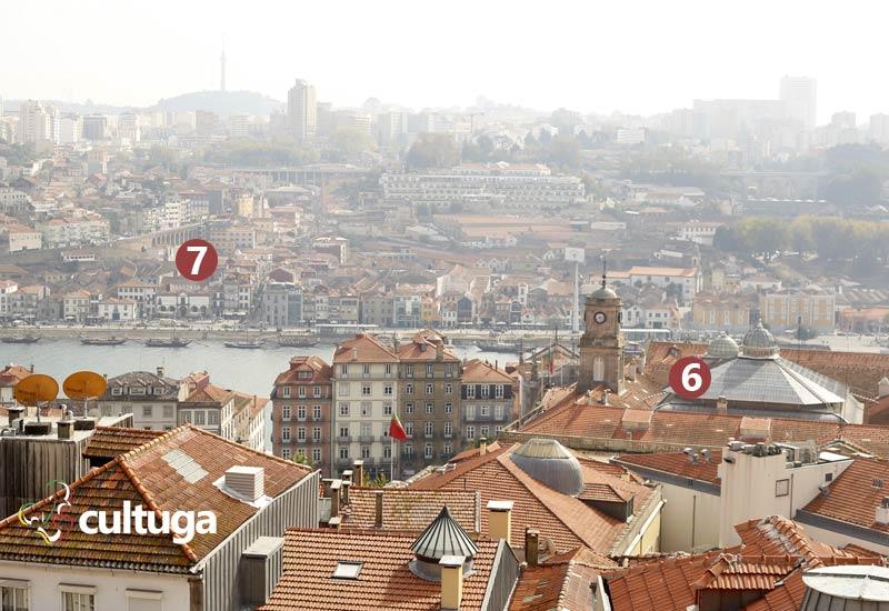 Vista a partir do Miradouro da Vitória no Porto, Portugal