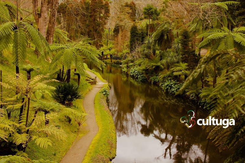 Parque Terra Nostra, na ilha de São Miguel, nos Açores - Portugal
