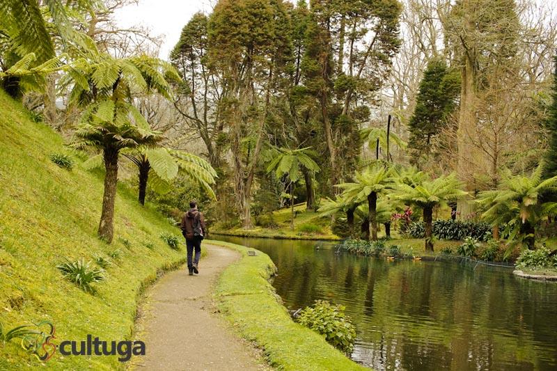 Parque Terra Nostra na Ilha de São Miguel, Açores - Portugal