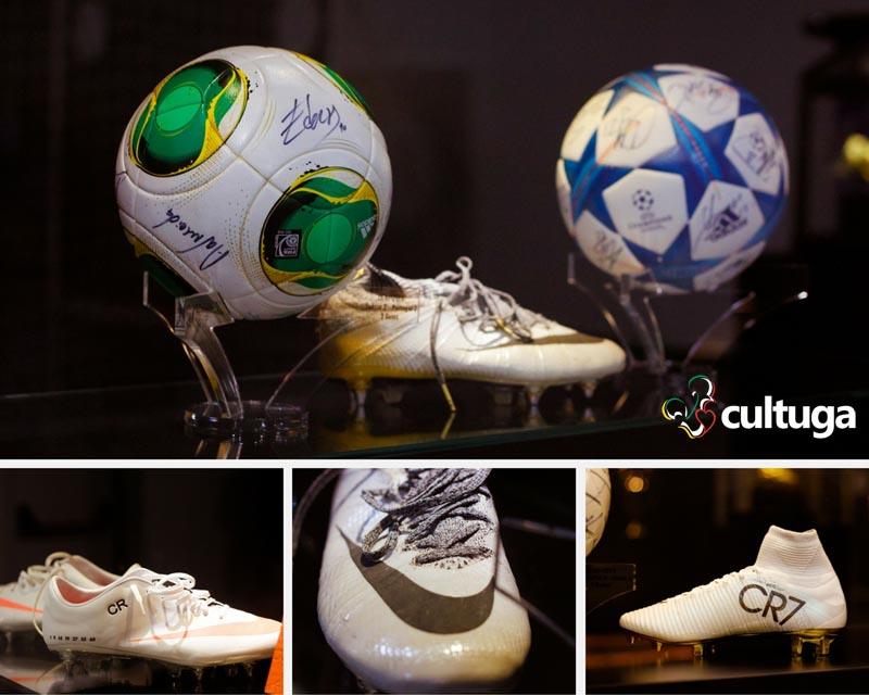 Chuteiras de Cristiano Ronaldo no Museu CR7 - Ilha da Madeira, Portugal