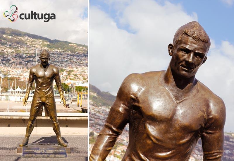 Estátua de Cristiano Ronaldo no Funchal - Ilha da Madeira, Portugal