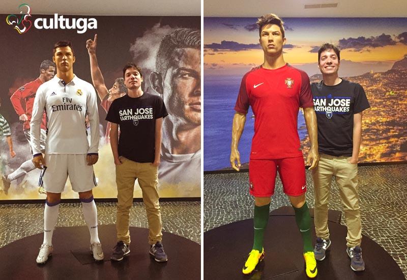 Estátua de Cristiano Ronaldo no Museu CR7 - Ilha da Madeira, Portugal