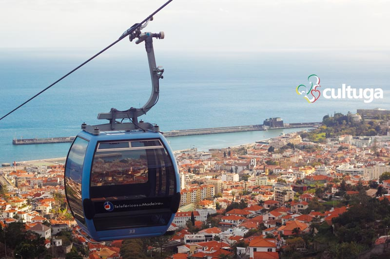 Teleférico do Monte, na Ilha da Madeira, Portugal