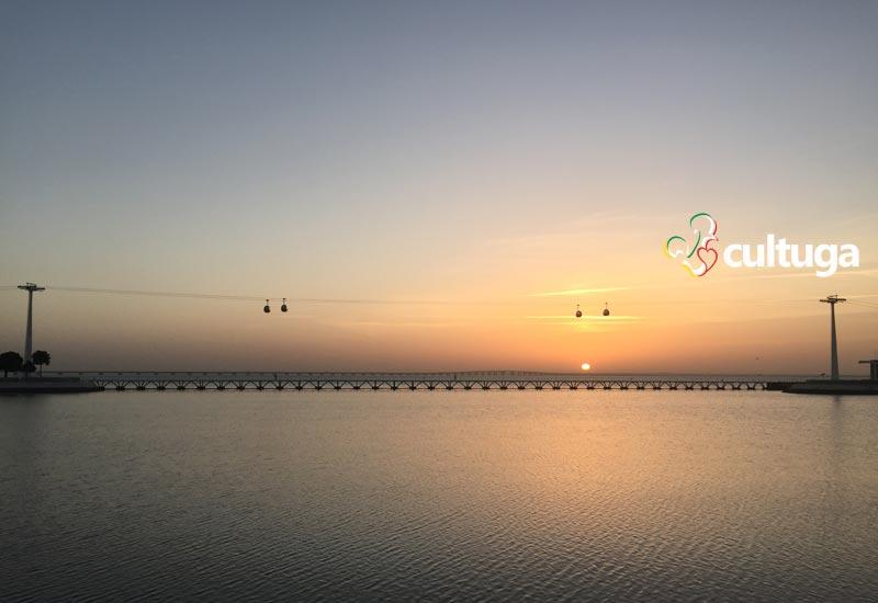 Nascer do sol no Parque das Nações, em Lisboa