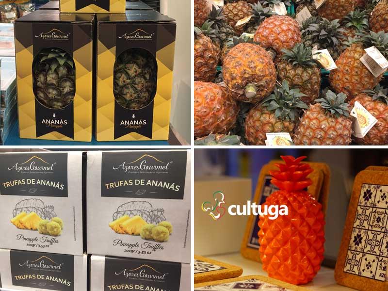 Produtos típicos dos Açores: ananás