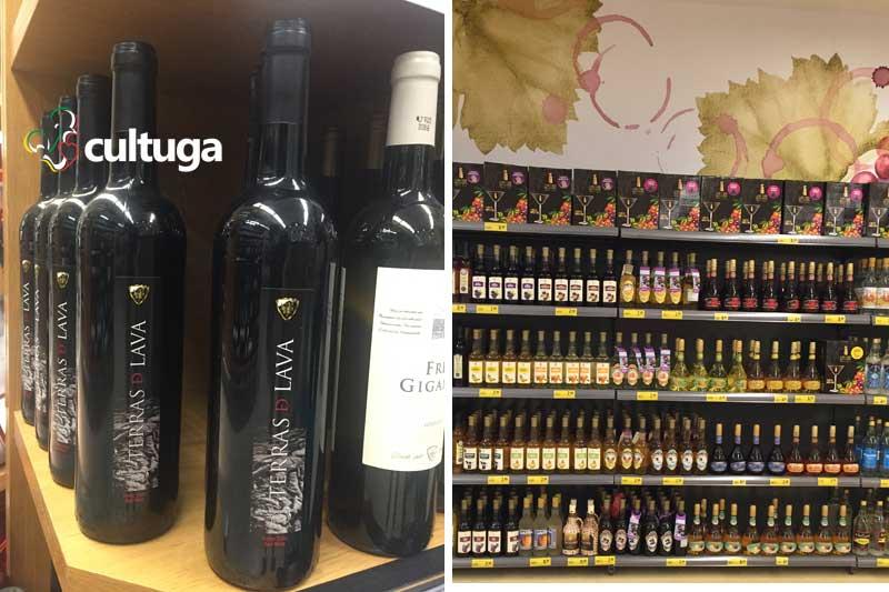 Produtos típicos dos Açores: vinhos e licores