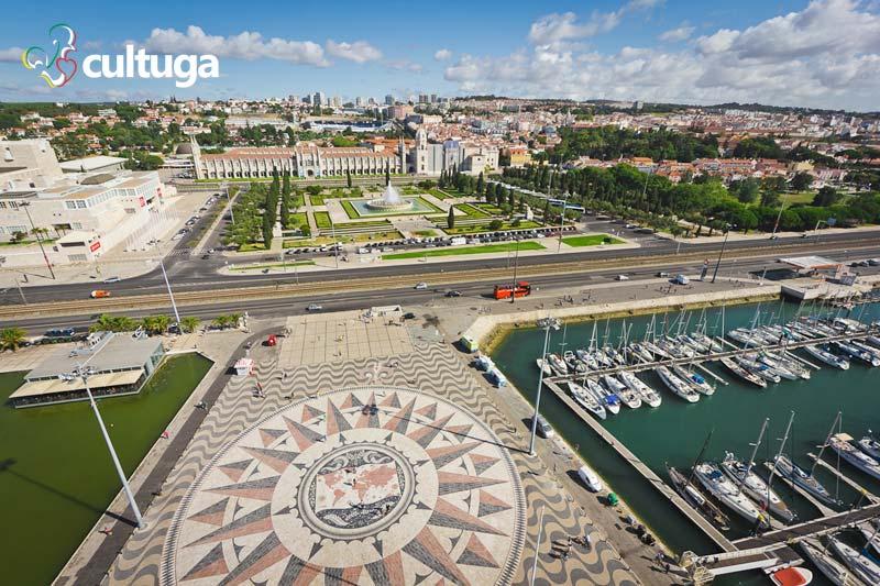 Vista aérea do bairro de Belém Lisboa