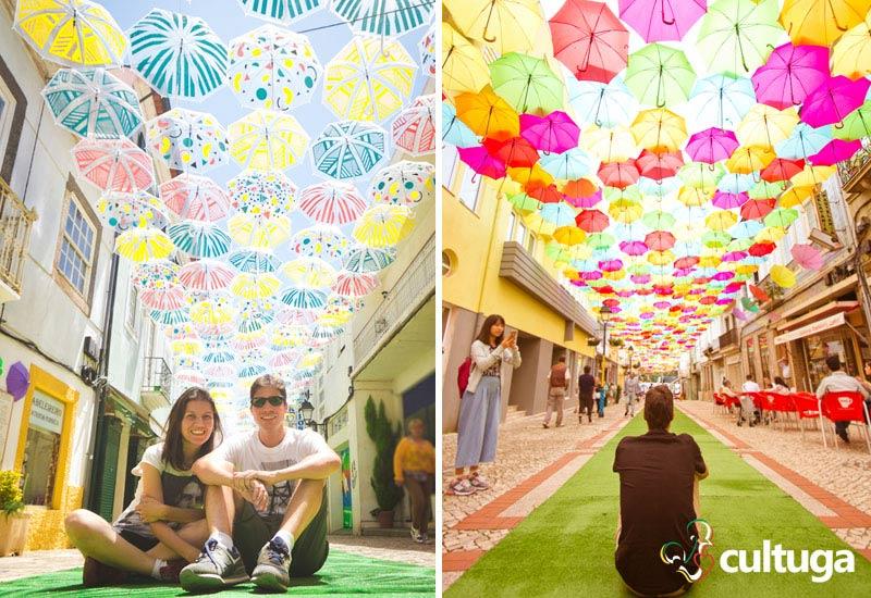 O que fazer em Águeda: roteiro das ruas com sombrinhas coloridas