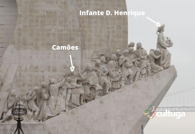 Luís de Camões no Padrão dos Descobrimentos
