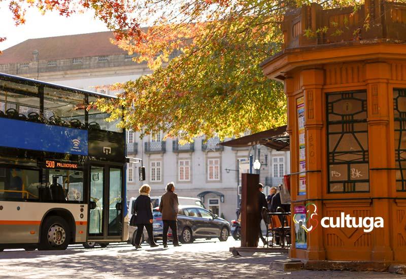 Outono em Portugal: árvores no Porto