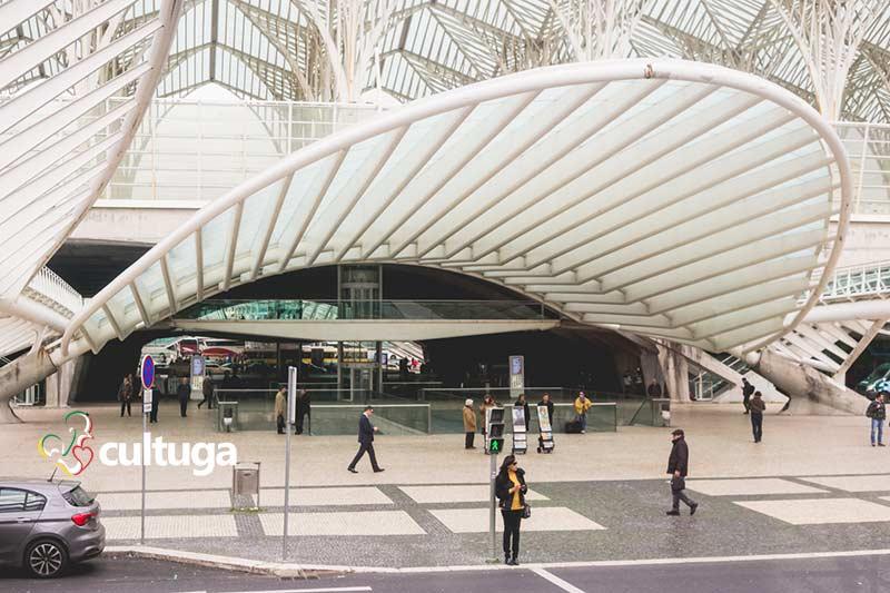 Gare do Oriente, no Parque das Nações, em Lisboa - Portugal