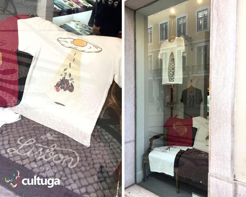 Loja de camisetas em Lisboa