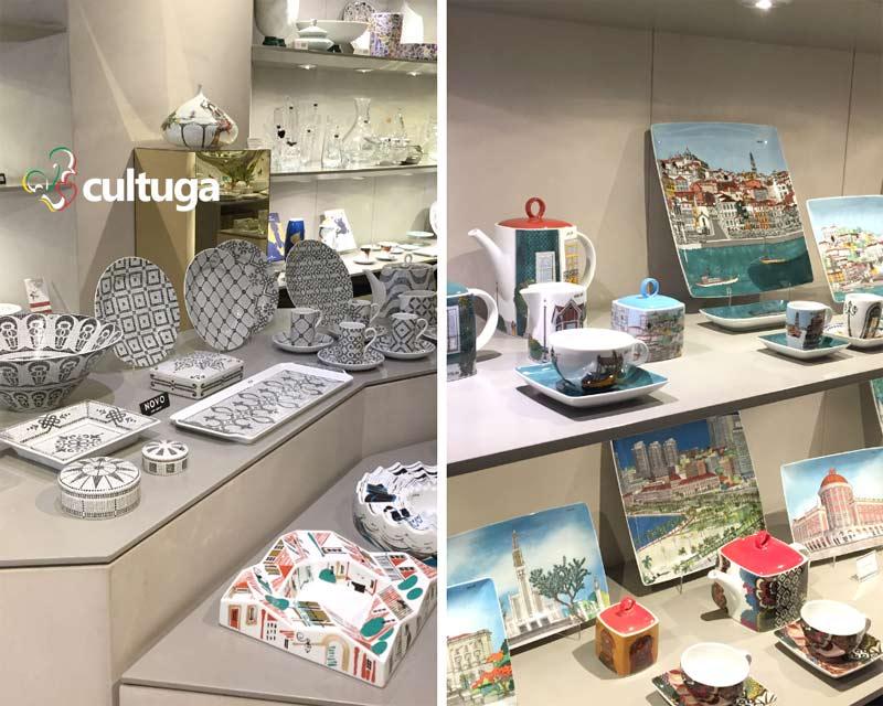 Loja Vista Alegre com porcelanas portuguesas
