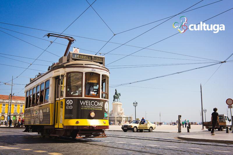 Bondinho elétrico em Lisboa