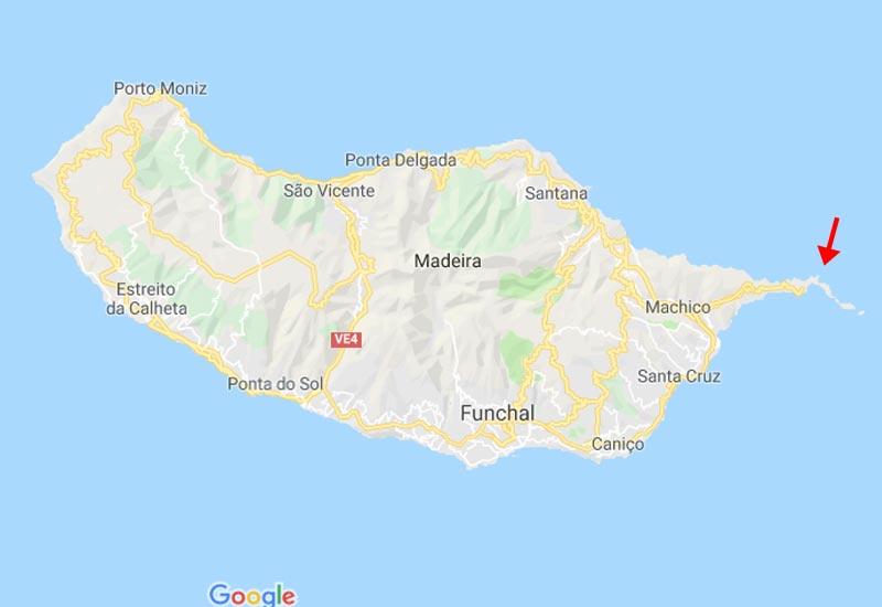 Mapa Ilha da Madeira Portugal