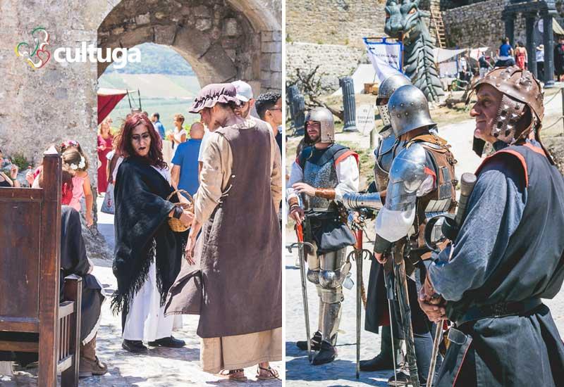 Trajes medievais no Mercado Medieval de Óbidos