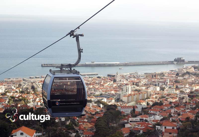 Visitar Ilha da Madeira: andar de teleférico do Funchal
