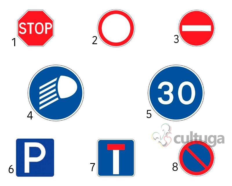 placas trânsito portugal