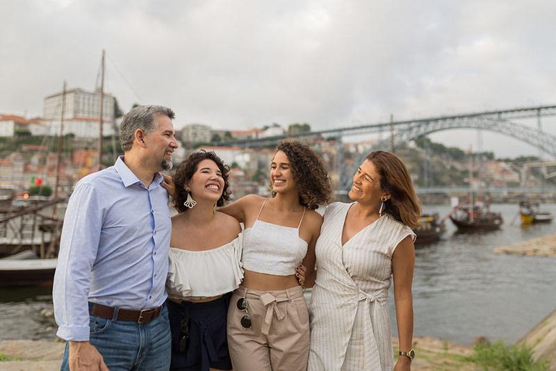 Ensaio Fotográfico no Porto, Portugal, família