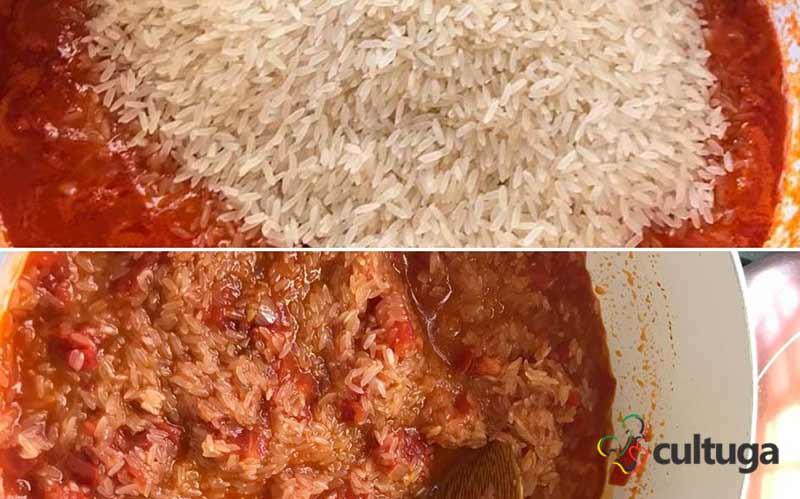 Arroz de Tomate receita portuguesa