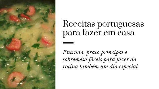 receitas portuguesas para fazer em casa